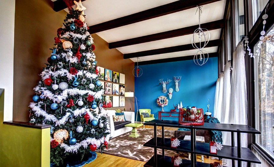 30 best christmas living room decorating ideas oct 13 2016 43shares - Best Christmas Decorating Ideas