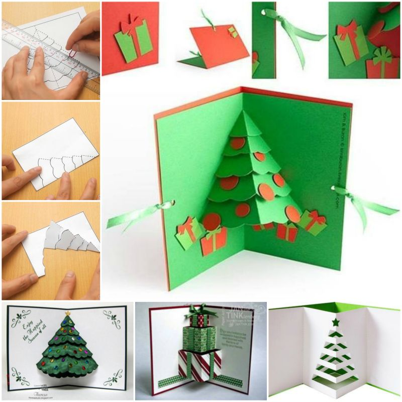 Diy christmas cards diy 3d pop up christmas tree card m4hsunfo