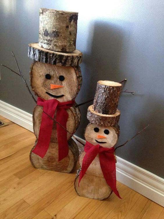 diy-snowman-logs