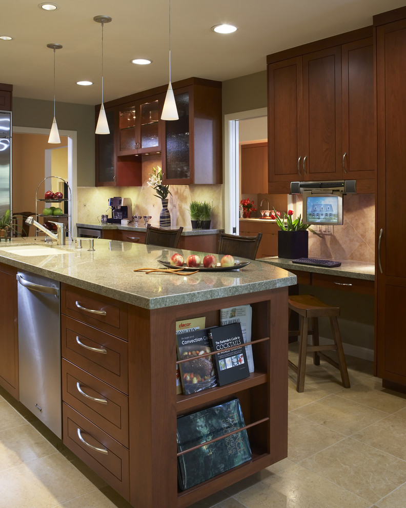 18 Kitchen With Dark Wood Cabinets Design Ideas