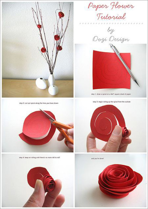 diy paper flower diy playing cards decoration