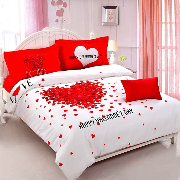 25 romantic valentines bedroom decorating ideas for Bed decoration anniversary