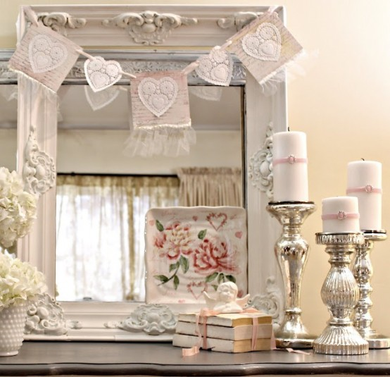 More Shabby Chic Halloween Interior Decor Ideas: 41 Fresh Shabby Chic Valentine's Decorations