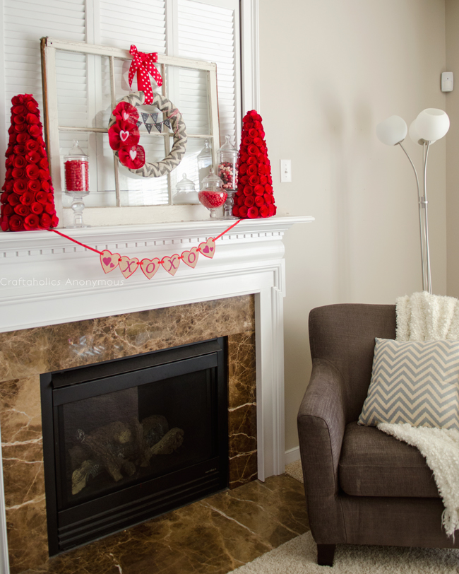 25 Valentines Decorations: 25 Valentine's Day Fireplace Decor Ideas