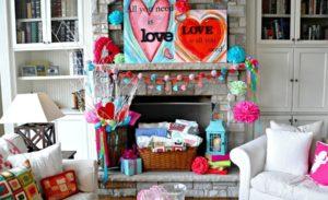 25 Valentine's Day Fireplace Decor Ideas