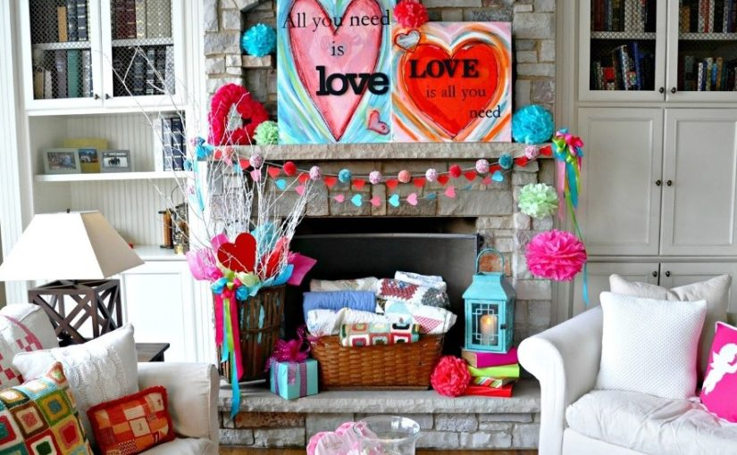 Valentine's Day Fireplace Decor Ideas (4)