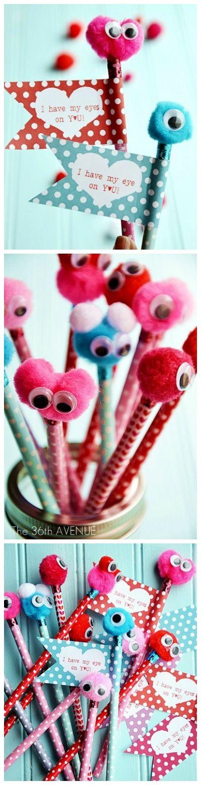 valentine-monster-pencils