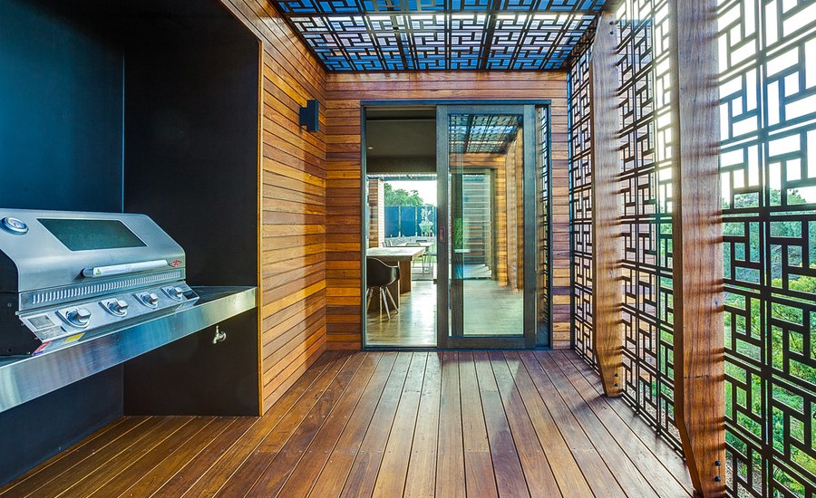 Asian Backyard Deck Design