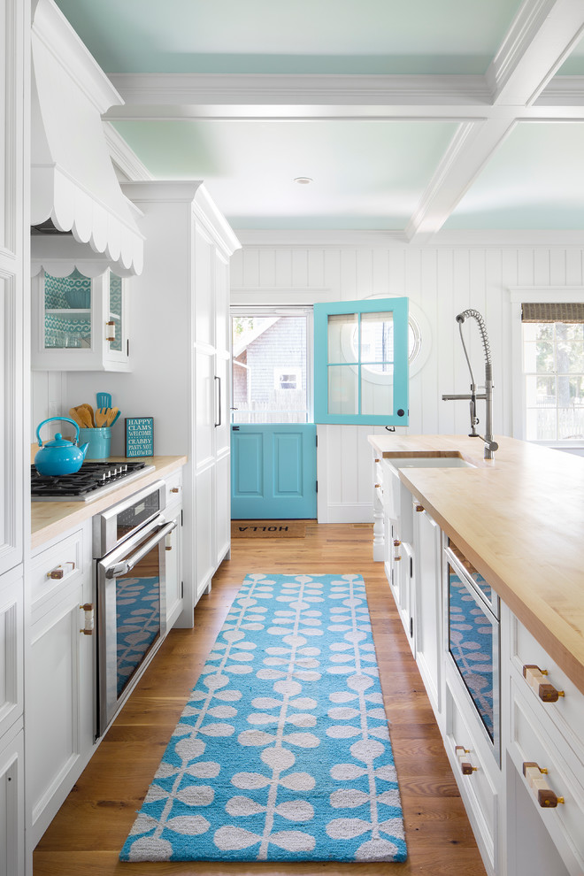 Beach Style Galley Kitchen