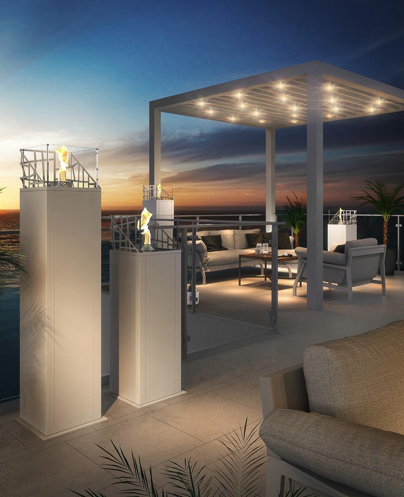 Contemporary Backyard Deck Design With Pergola