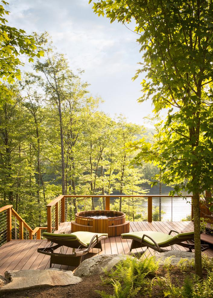 Craftsman Backyard Deck Design