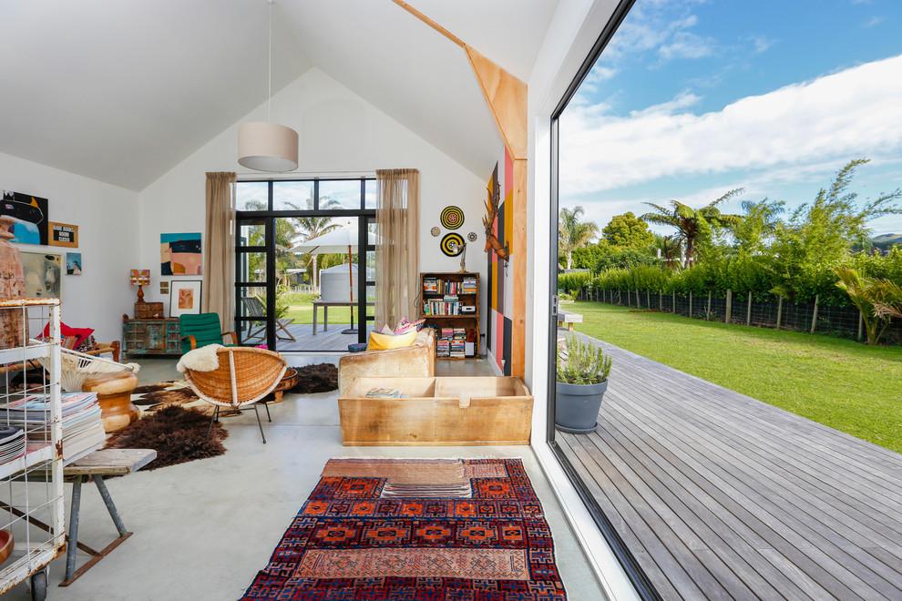 Eclectic Backyard Deck Design