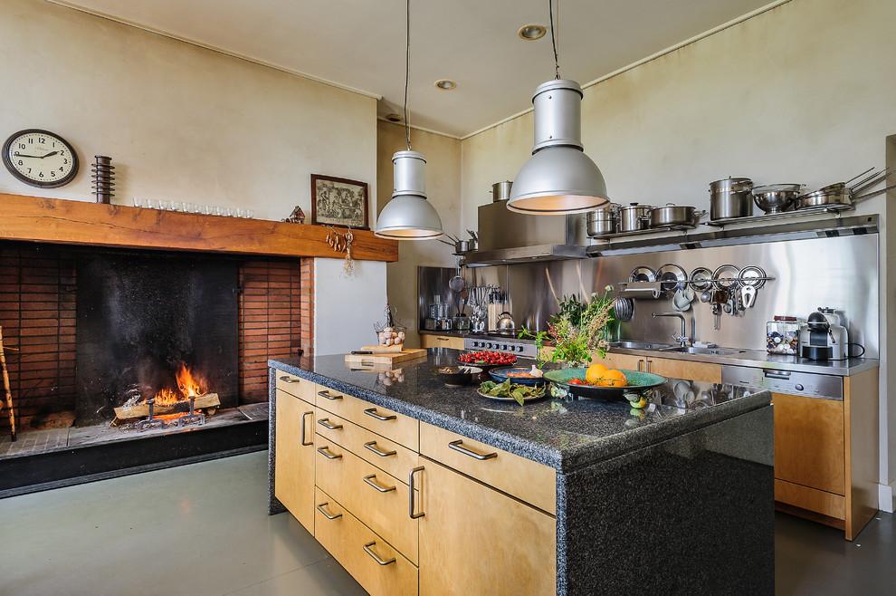 Industrial Galley Kitchen