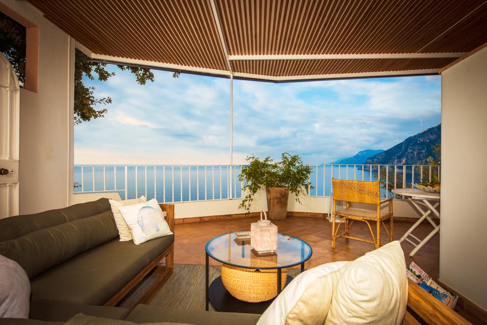 Mediterranean Backyard Deck Design