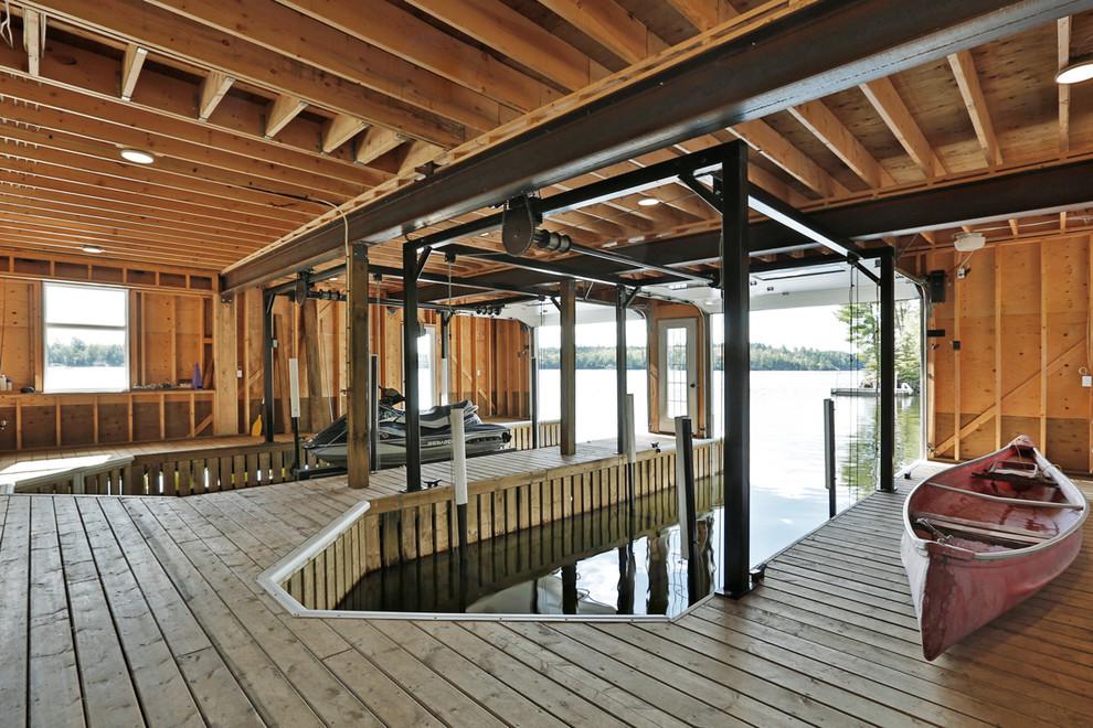 Rustic Backyard Deck Design