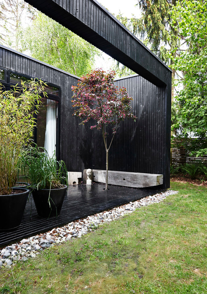 Scandinavian Backyard Deck Design