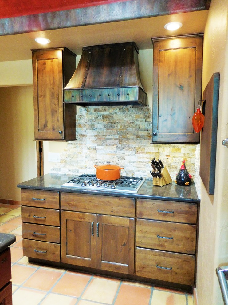 Small Southwestern Style Kitchen