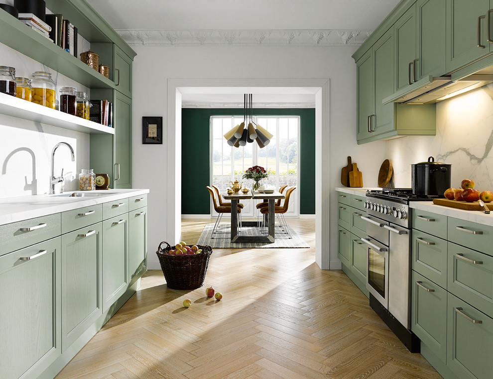 Traditional Galley Kitchen