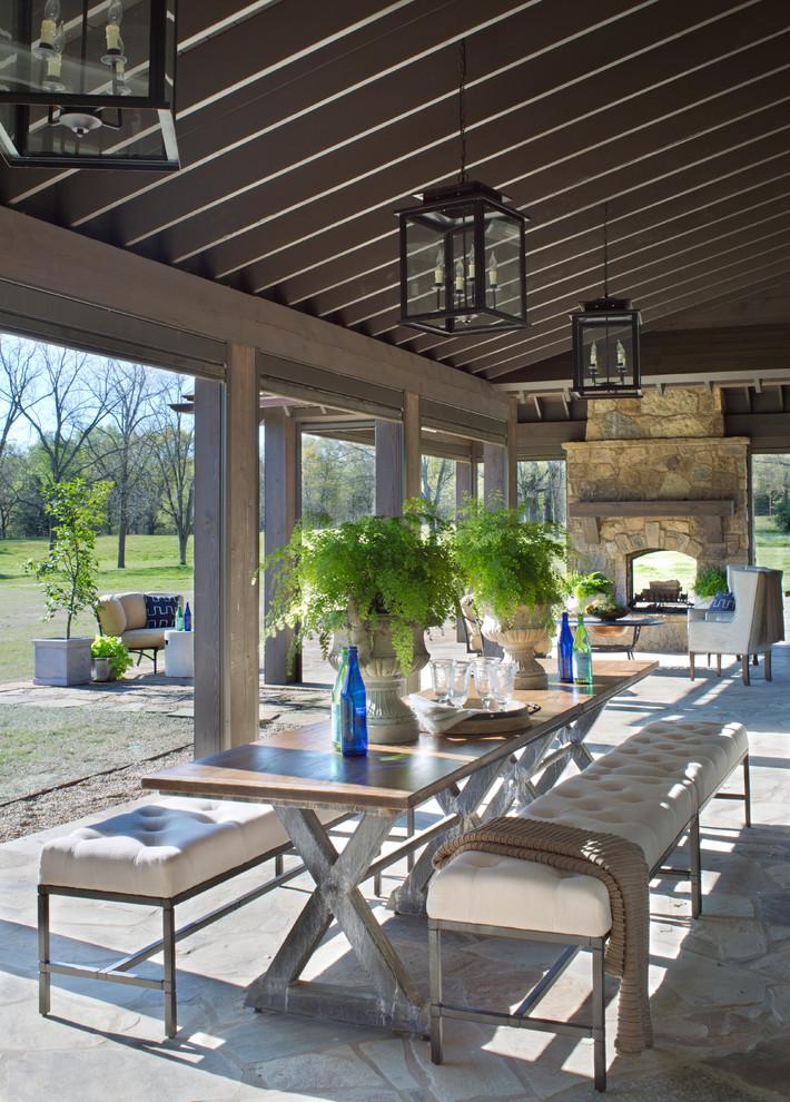 Farmhouse Backyard Patio Design