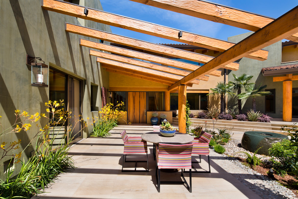 Southwestern Backyard Patio Design
