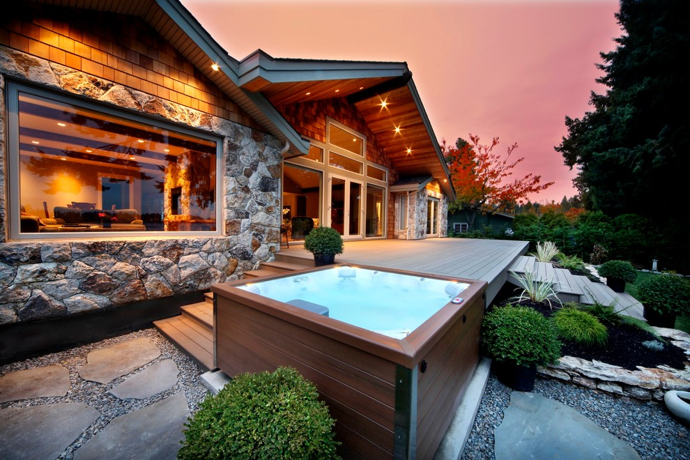 Wooden Craftsman Patio Design