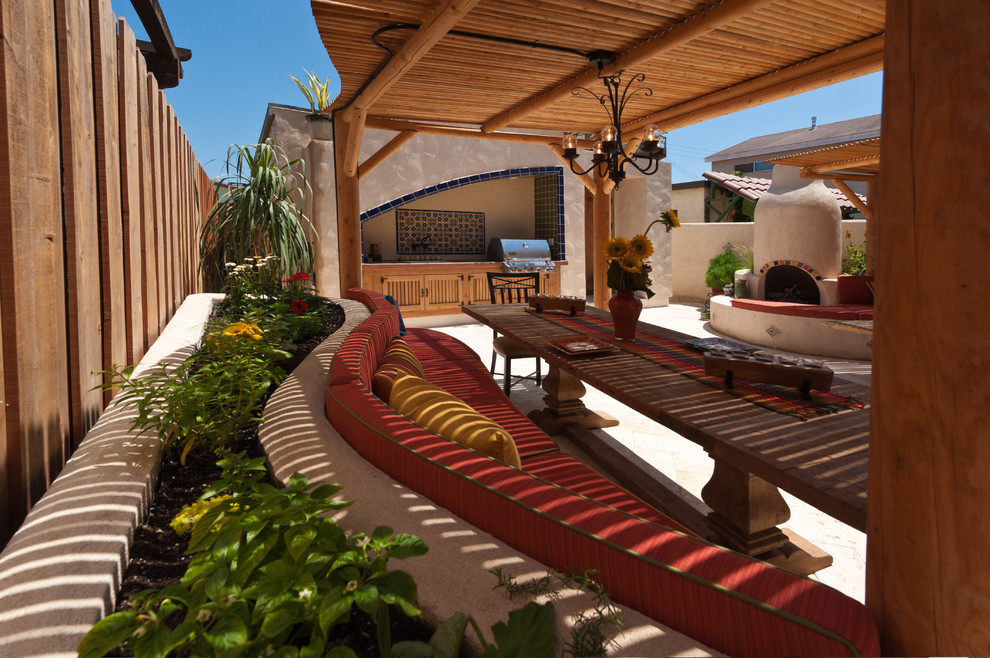 Wooden Eclectic Patio Design