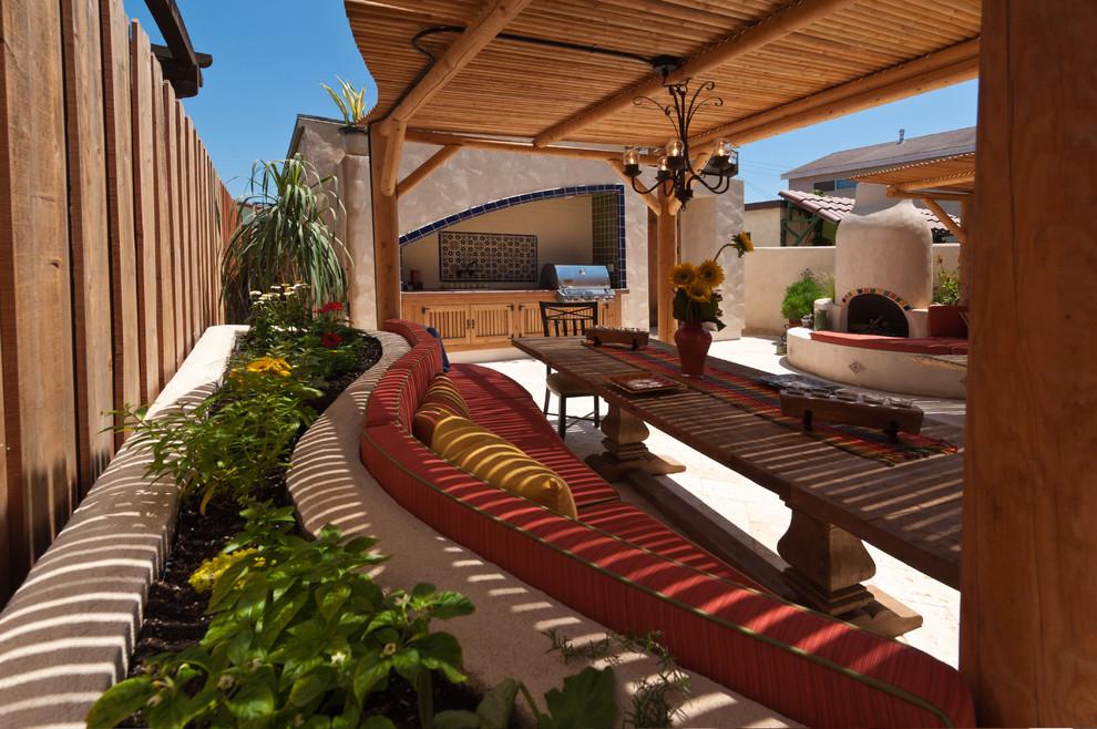 Wooden Eclectic Patio Design
