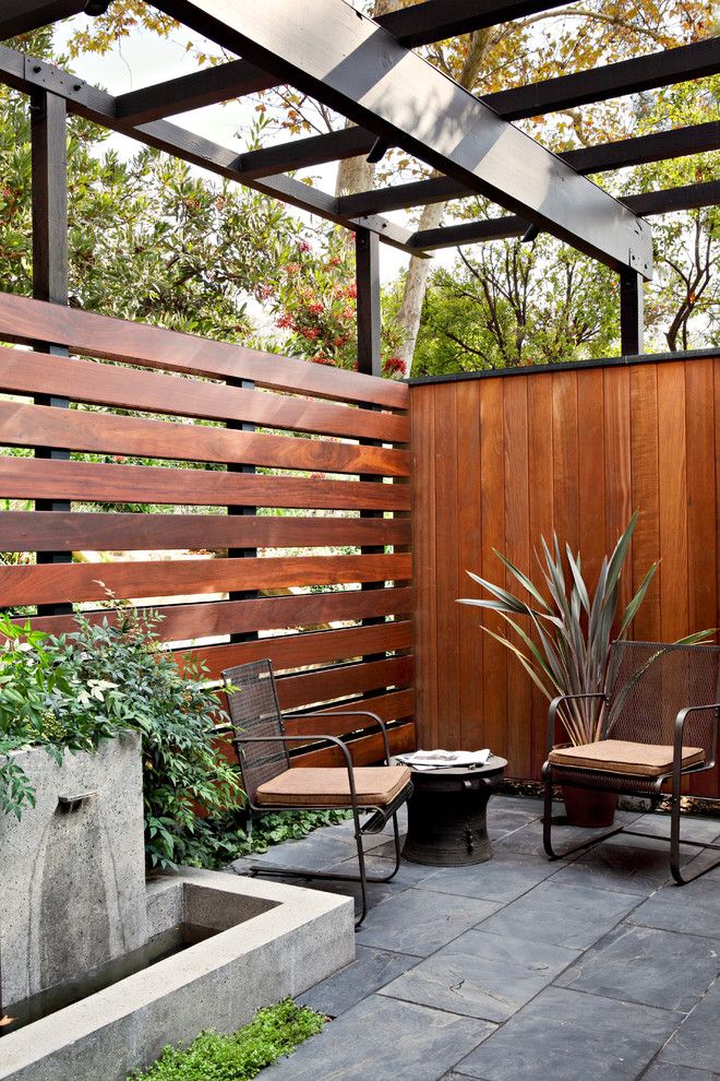 Wooden Midcentury Patio Design