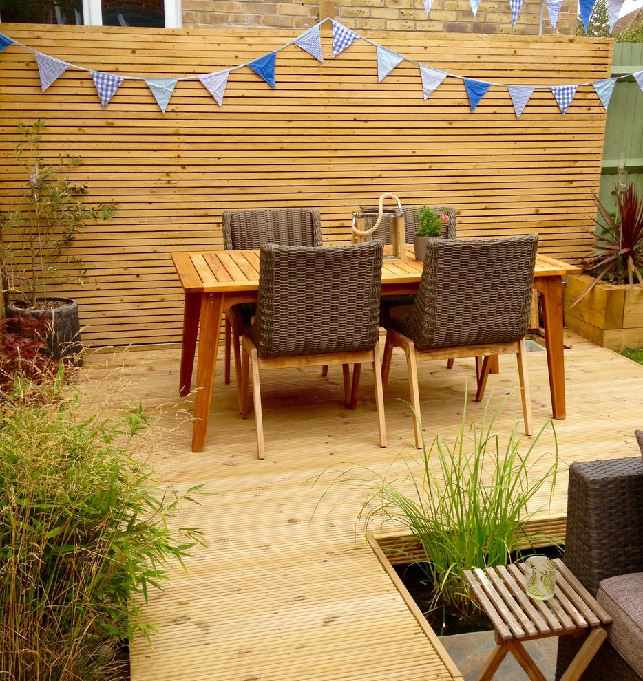 Wooden Rustic Patio Design