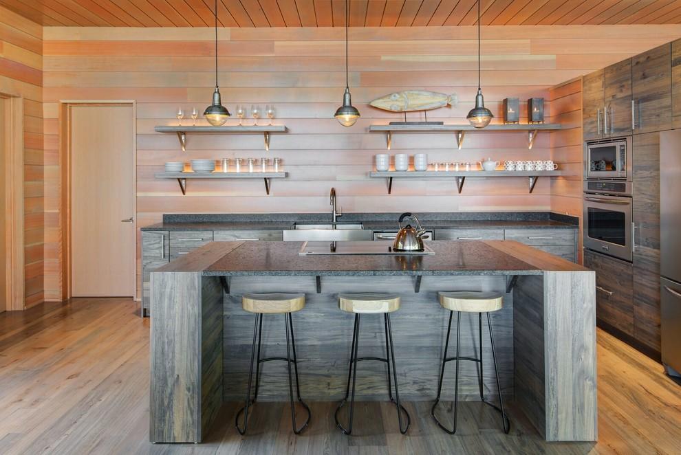 I Shaped Modern Kitchen