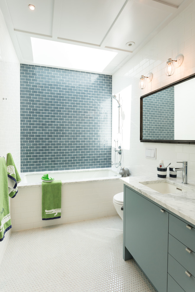 Subway Tile Contemporary Bathroom