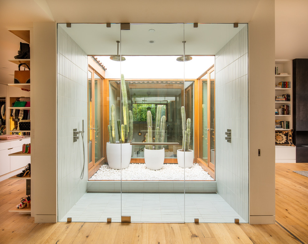 Transparent Contemporary Master Bathroom