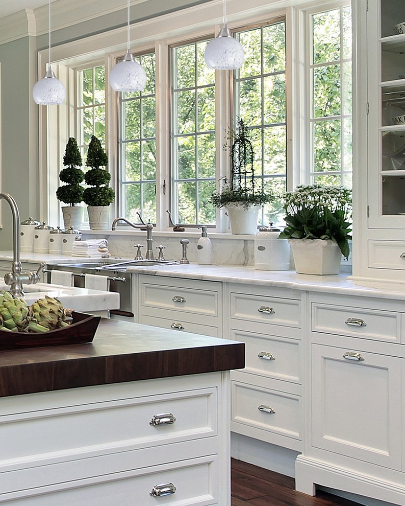 All White Asian Kitchen Design