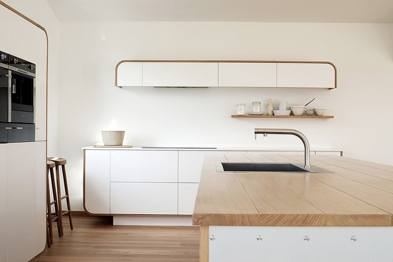 All White Retro Kitchen Design