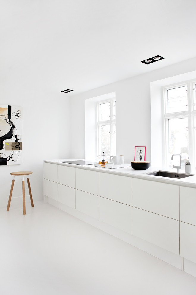 All White Scandinavian Kitchen Design