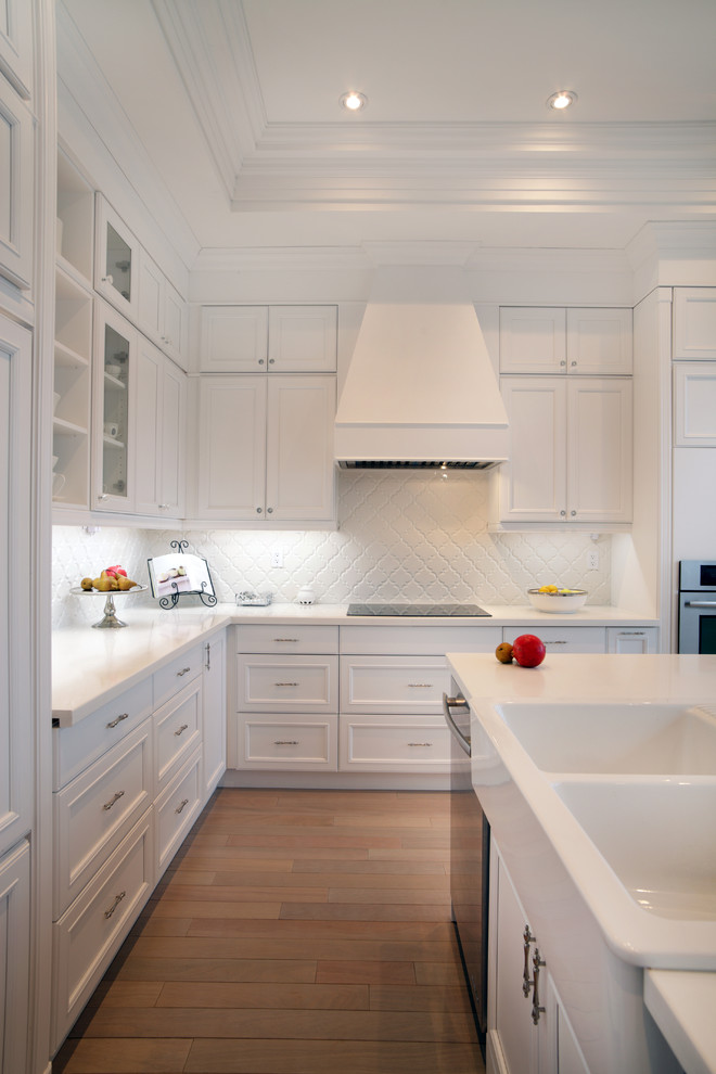 All White Traditional Kitchen Design