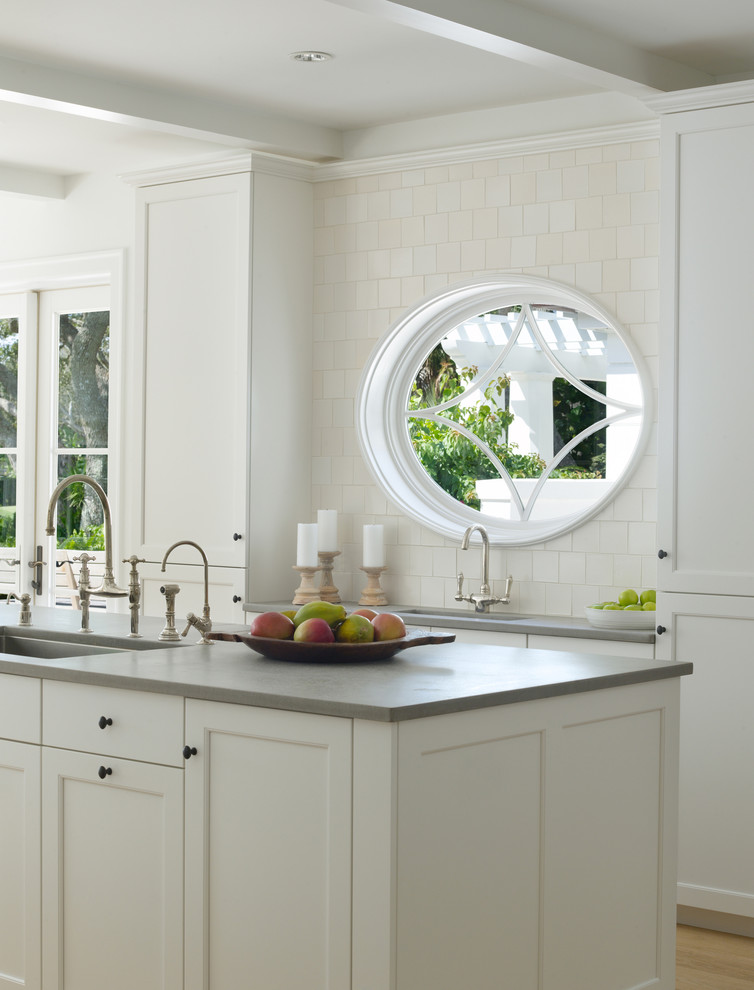 All White Tropical Kitchen Design