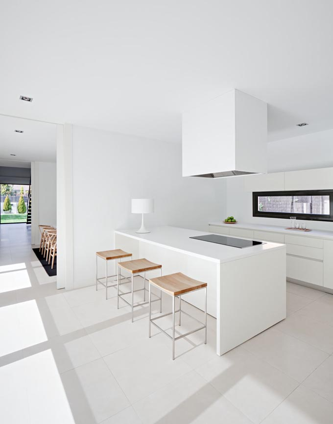 All White Ultra Modern Kitchen Design