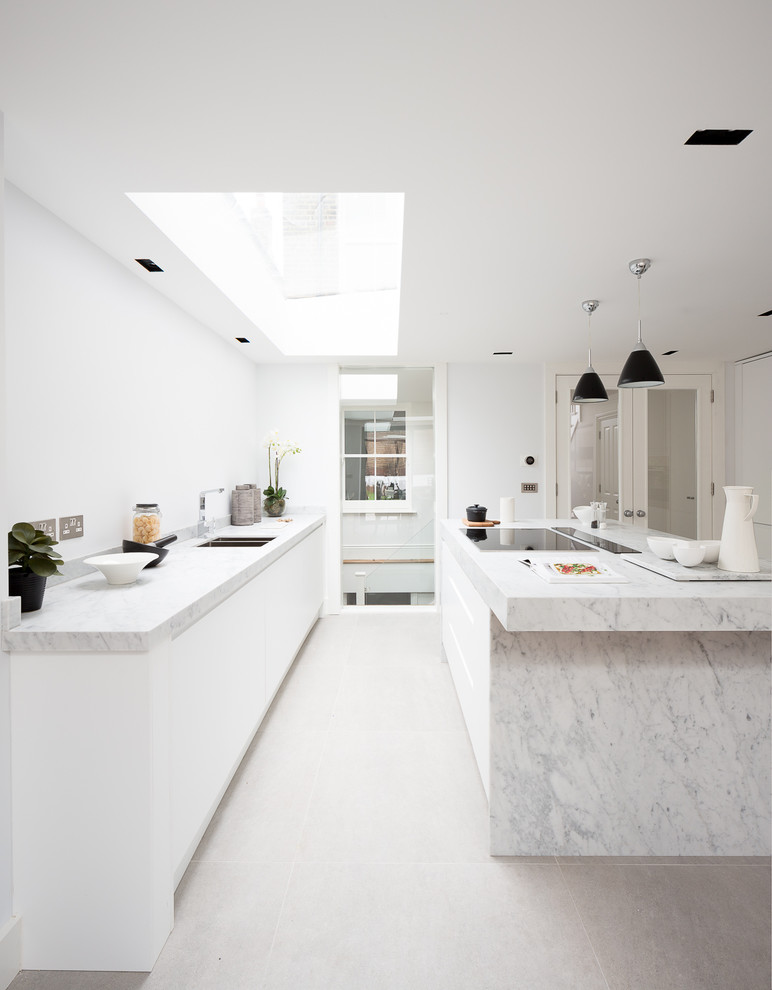 All White Victorian Kitchen Design