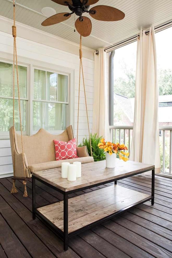Contemporary Backyard Porch Design