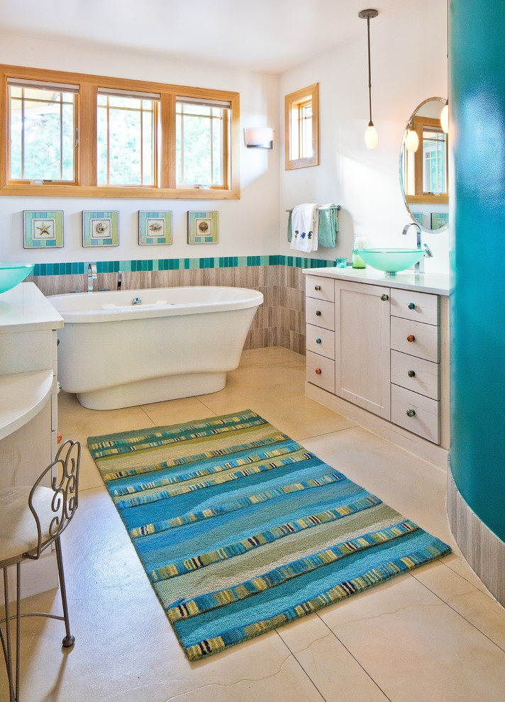 Craftsman Bathroom Rug Design