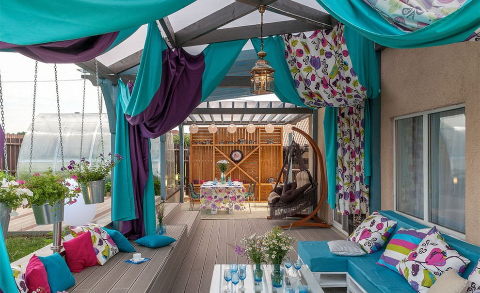 Eclectic Backyard Porch Design