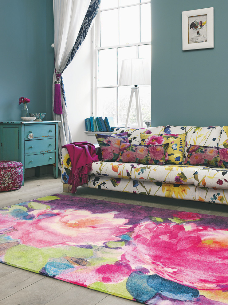 15 best colorful rug design ideas to try in 2017 - Colorful rugs for living room ...