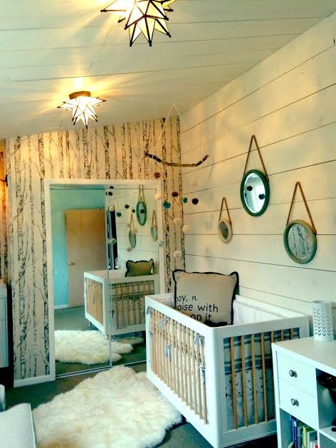 Iron Crib in Beach Style Kids Bedroom
