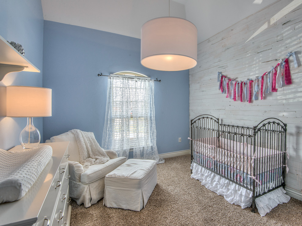 Iron Crib in Farmhouse Kids Bedroom