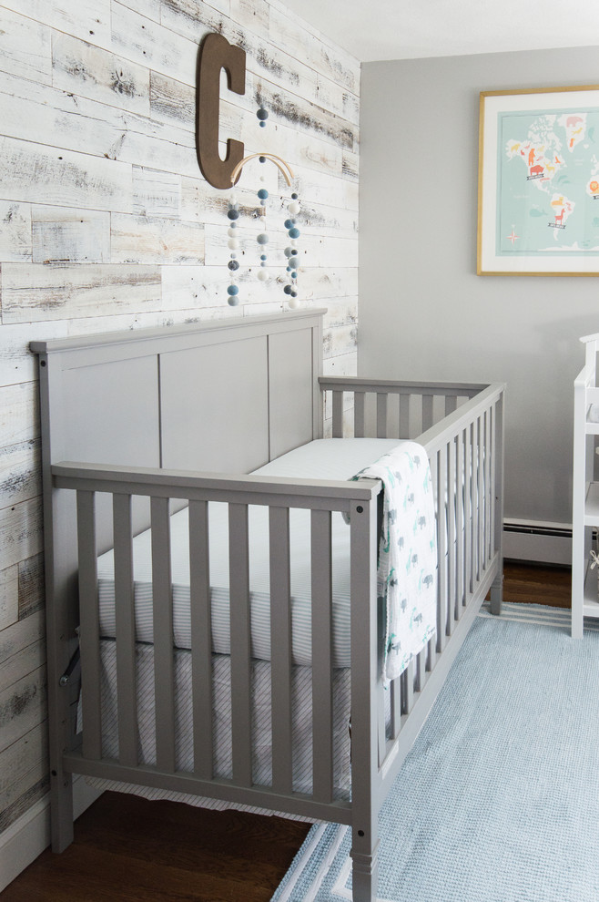 Iron Crib in Industrial Kids Bedroom