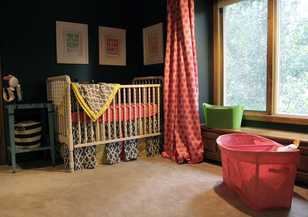 Iron Crib in Modern Kids Bedroom