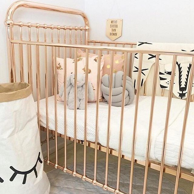 Iron Crib in Scandinavian Kids Bedroom
