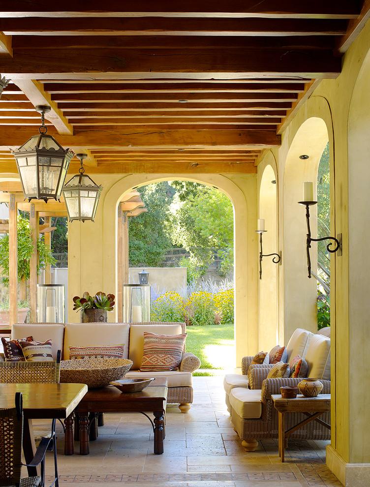 Mediterranean Backyard Porch Design