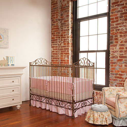 Premiere Iron Crib in Venetian Gold